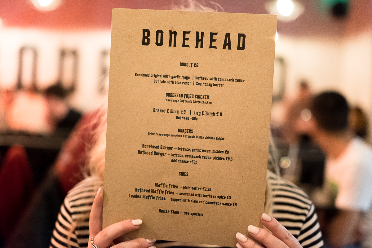 Bonehead Menu