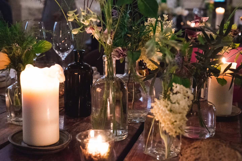 Edinburgh Wedding table setting timberyard