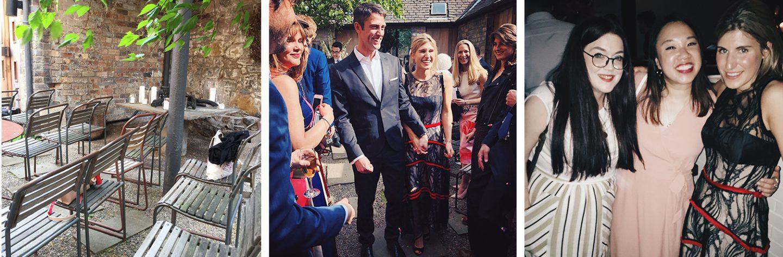 Edinburgh Wedding friends timberyard courtyard